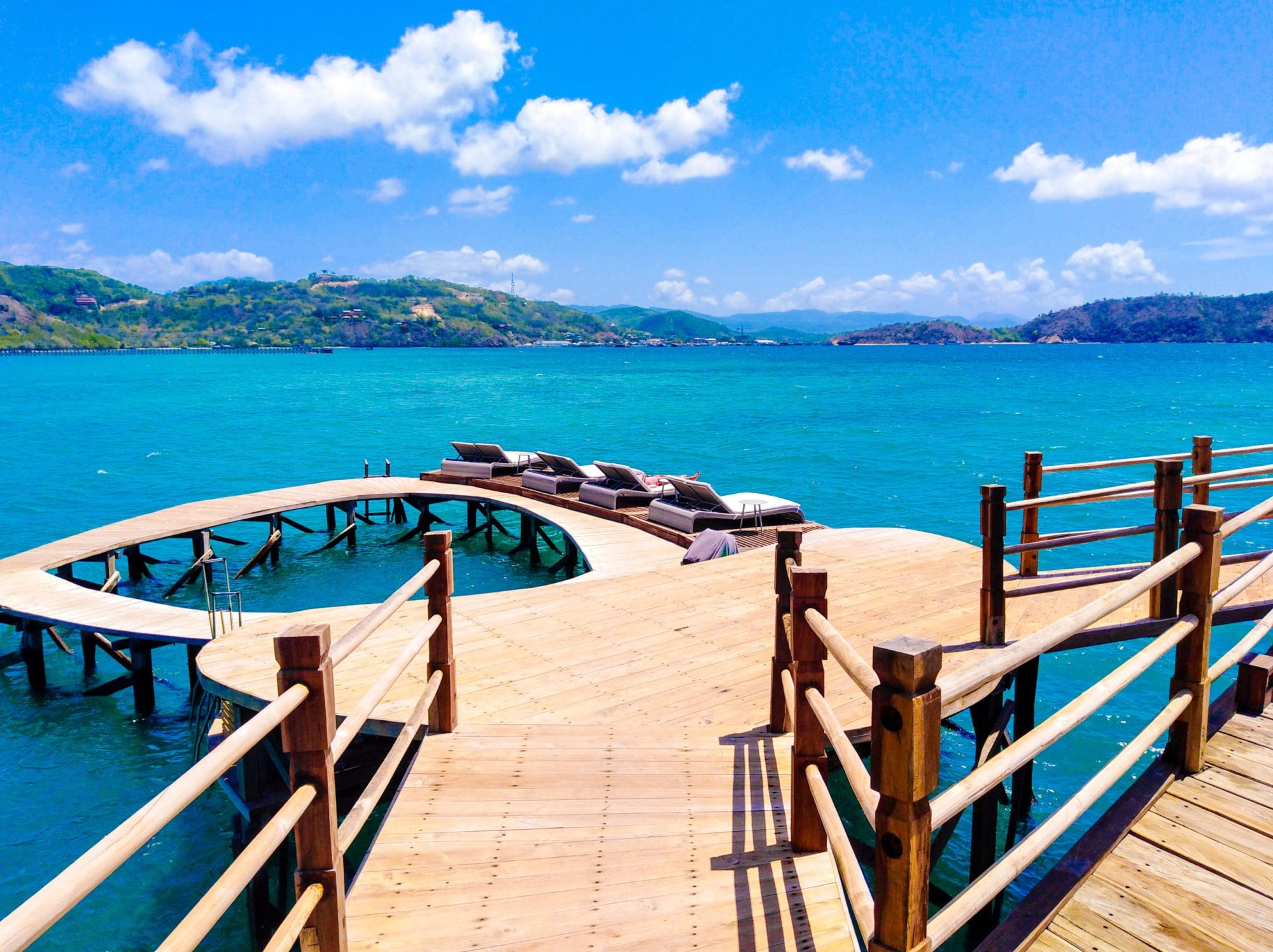 The end of the pier at Ayana Komodo resort