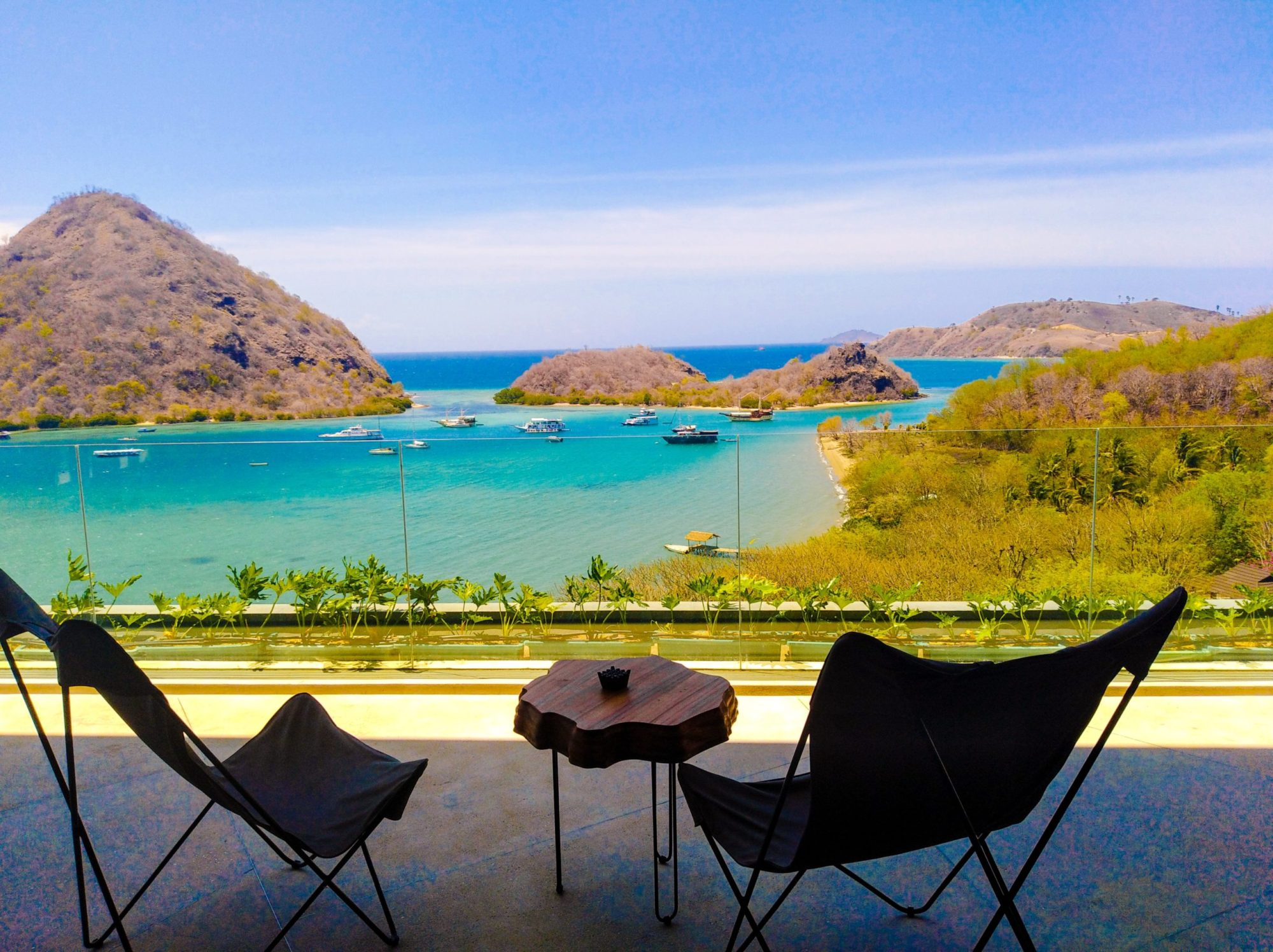 Komodo's best luxury hotel: View from the lobby
