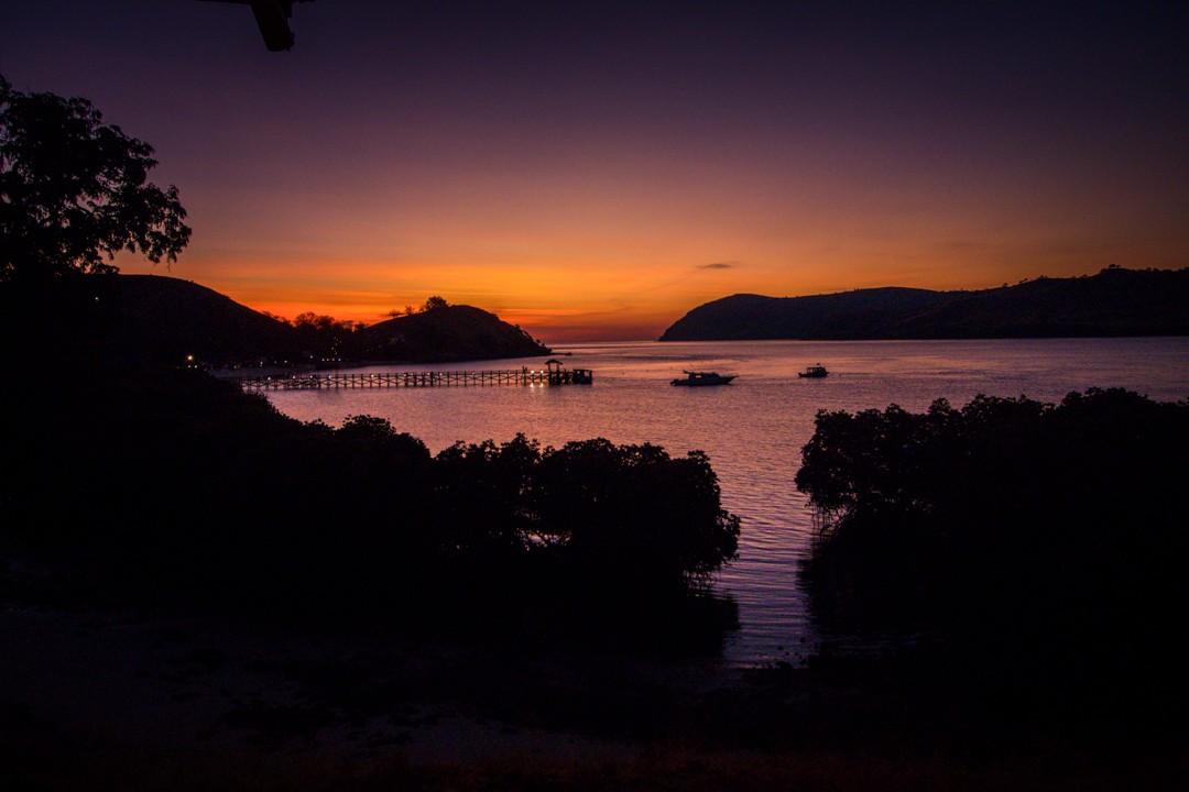 The Seraya hotel sunset