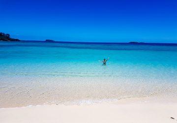 the beach at Yasawa Island resort
